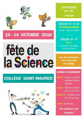 Fête de la Science au Collège St Maurice!