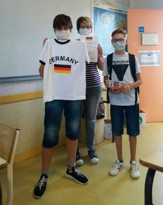 Quizz anglo-allemand: la remise des prix